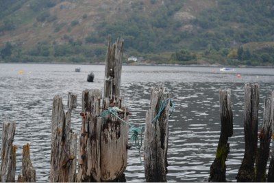 Airds Bay on Loch Etive the old pier