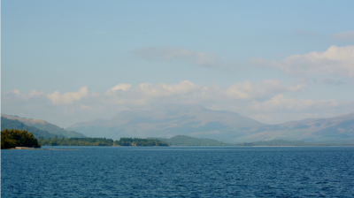 Ben Lomond on Loch Lomond's eastern shore