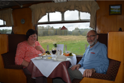Speyside steam railway for lunch