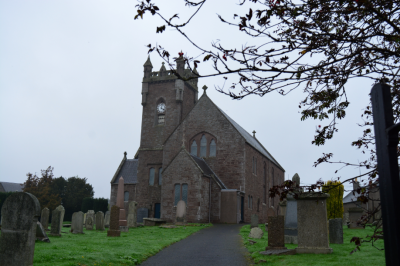 Meigle Church where they found 30 Pict carved stones in the church yard