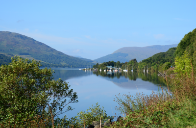 Morning and the sun is shining on Loch Earn